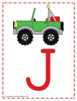 BIG Letters Shapes Numbers and Color Cards and Posters