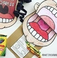 BIG MOUTH DOOR SIGN & PAPER BAG PUPPETS SPEECH THERAPY worksheets  NO PREP