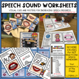 SPEECH SOUNDS POSTER Speech Therapy WORKSHEETS