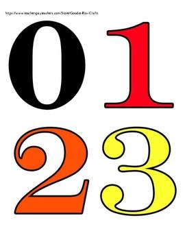BIG NUMBER SIZE 0-10