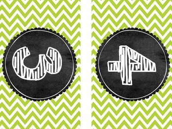 BIG Number Chevron and Gingham Table Numbers