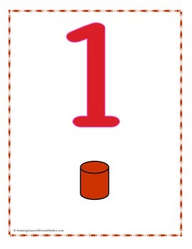 BIG Number Counting Cards and Posters