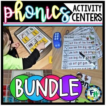 BIG Phonics Activity Centers Bundle {Growing}