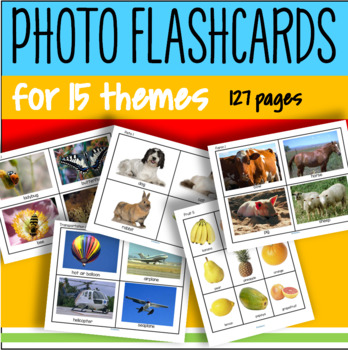 BIG Photo Flashcards for 15 Themes Preschool ESL Vocabulary + Ways to Use