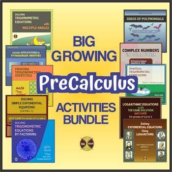 BIG Growing PRECALCULUS Activities BUNDLE - 50 products until now