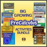 Precalculus Curriculum -  Activities GROWING BUNDLE 32% SAVINGS