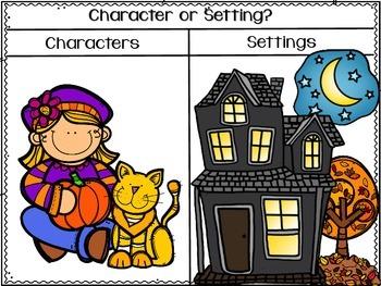 BIG Pumpkin! (characters and settings activities)