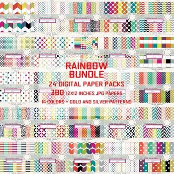 BIG RAINBOW DIGITAL PAPER BUNDLE