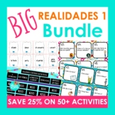 BIG Realidades 1 Bundle of Activities | Task Cards, Games,