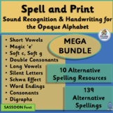 A year of Alternative Spellings and Handwriting Combined! BUNDLE | SASSOON Font