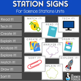 BIG Science Stations Units Signs