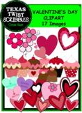 VALENTINE'S DAY CLIPART {Texas Twist Scribbles}