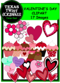 VALENTINE'S DAY CLIPART {Texas Twist Scribbles}