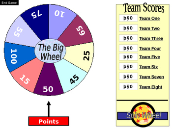 BIG WHEEL - spin for points
