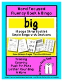 BIG - Word Fluency Book & Emotion Bingo - Sight Word Focus