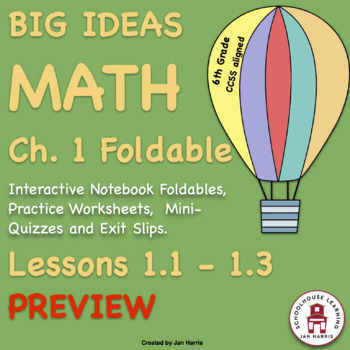 BIG ideas Math Foldable PREVIEW