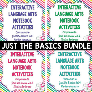 BIGGEST & BEST Bundle: JUST THE BASICS for Grades 3-5 - 1 ENTIRE year!