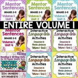 BIGGEST & BEST Mentor Sentence Bundle Volume 1 for Grades