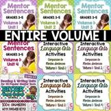 BIGGEST & BEST Mentor Sentence Bundle Volume 1 for Grades 3-5- 1 Entire Year!