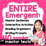 BIGGEST & BEST Mentor Sentence Bundle for K-1 (Emergent) - 1 Entire Year!