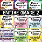 BIGGEST & BEST Mentor Sentence Bundle for SECOND GRADE- 1