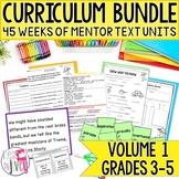 Yearlong Mentor Text Curriculum Bundle: Volume 1 for Grades 3-5