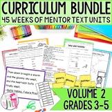 Yearlong Mentor Text Curriculum Bundle: Volume 2 for Grades 3-5