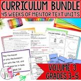 Yearlong Mentor Text Curriculum Bundle: Volume 3 for Grades 3-5