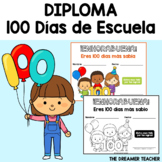 "BILINGUAL ""100 Days of School"" certificate. FREEBIE"