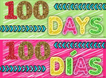 BILINGUAL 100th day emoji themed countdown!