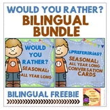 "BILINGUAL BUNDLE ""Would you rather? / ¿Preferirías?"" Seaso"