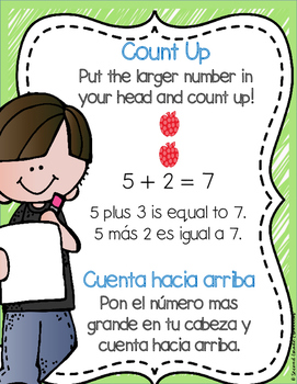 BILINGUAL: Basic Addition Strategy Posters