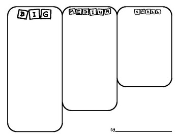 BILINGUAL Big, Medium, Small Sorting Worksheet FREEBIE