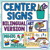 Bilingual Center Signs in English & Spanish