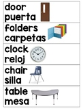 BILINGUAL Classroom Labels with Photographs!
