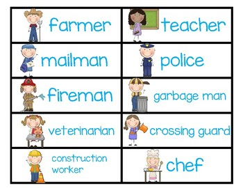 DUAL LANGUAGE Community Helpers Vocabulary Pack