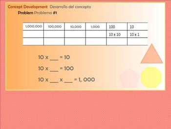 BILINGUAL EngageNY Mathematics Fifth Grade Module 1 Lesson 3