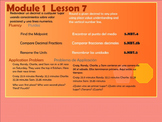 BILINGUAL EngageNY Mathematics Fifth Grade Module 1 Lesson 7