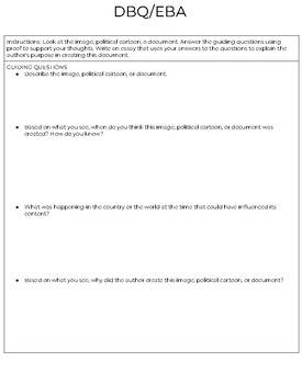 BILINGUAL: Evidence Based Argument or DBQ (Document-Based Questioning) Template