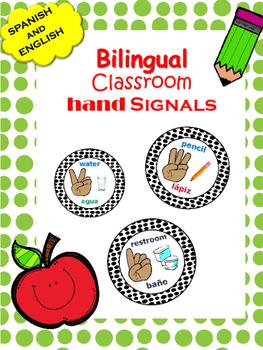 BILINGUAL Hand Signal Posters