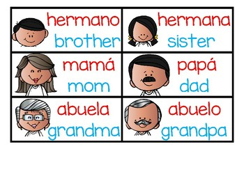 DUAL LANGUAGE My Family Pack