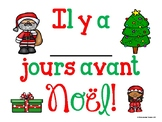 BILINGUAL Noël & Christmas countdown posters