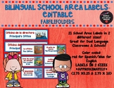 BILINGUAL SCHOOL AREA LABELS-EDITABLE