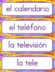 BILINGUAL SET: Classroom Labels - Zaner-Bloser style