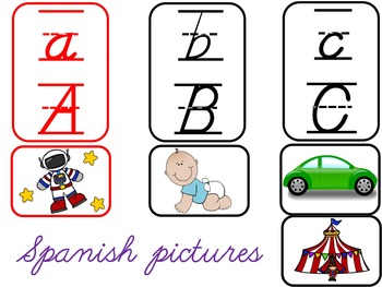 BILINGUAL SET:D'Nealian Alphabet Charts {All Letter Sounds!}