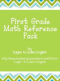 BILINGUAL SET: First Grade Math Reference Packet