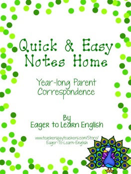 BILINGUAL SET: Quick & Easy Notes Home