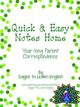 BILINGUAL SET: Quick & Easy Notes Home