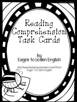 BILINGUAL SET: Reading Comprehension Task Cards (B&W Color Me! Edition)