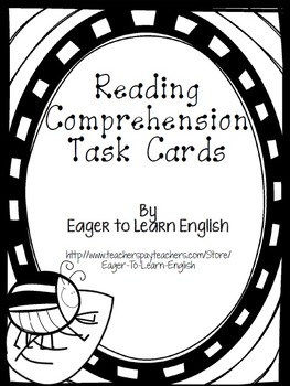 BILINGUAL SET: Reading Comprehension Task Cards (B&W Color Me! Edition)